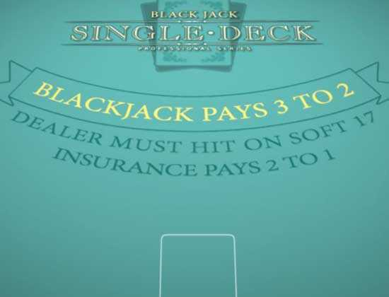 blackjack single deck slotsplot